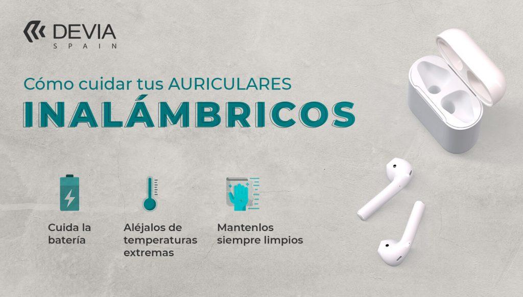 Cómo cuidar tus auriculares inalámbricosº