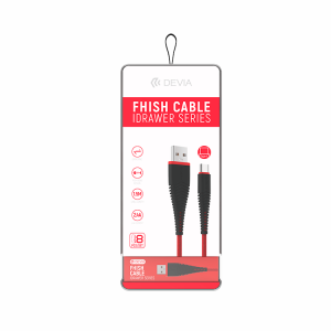 Idrawer Cable Fish Series TIPO C ROJO 1.5m